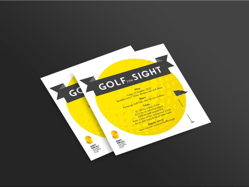 SFA Golf For Sight Mockup